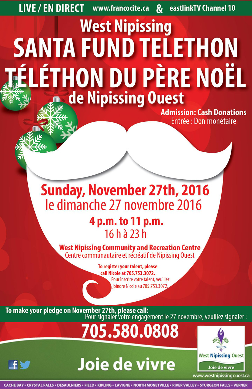 West Nipissing Santa Fund Telethon 2016